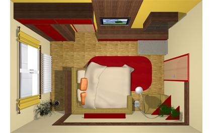 Návrhy interiérů a realizace ~ Byty ~ Obývací pokoj s ložnicí 2 ...